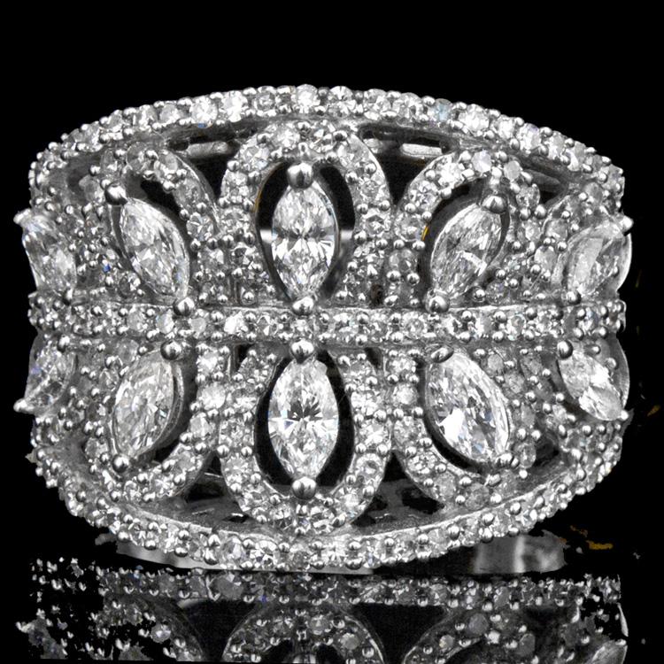 14K GOLD FASHION RING W/ 1.75ct. DIAMOND