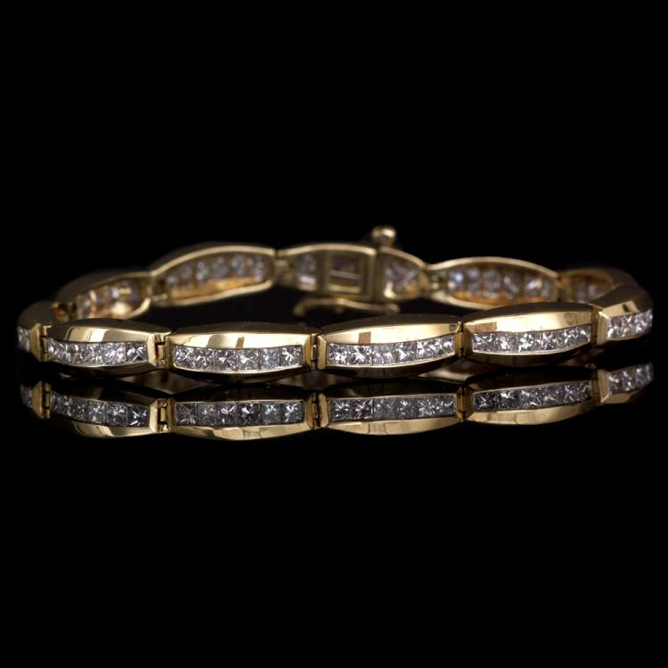 18K GOLD BRACELET W/ 5.95ct. FANCY DIAMOND
