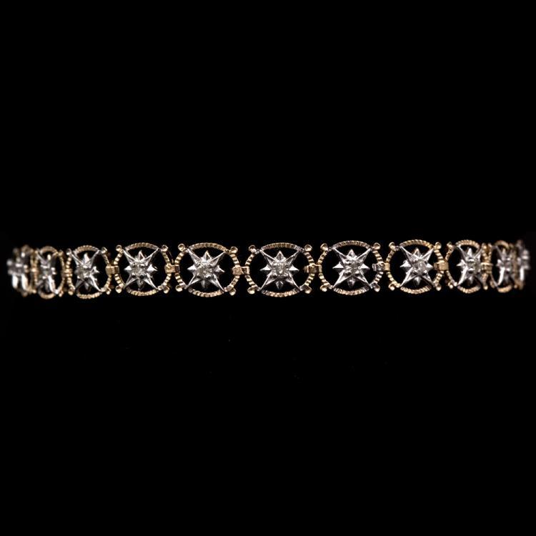 14K GOLD BRACELET W/ 0.50ct. DIAMOND