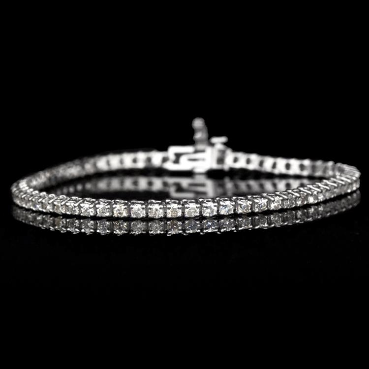 14K GOLD TRADITIONAL BRACELET W/ 3.00ct. DIAMOND
