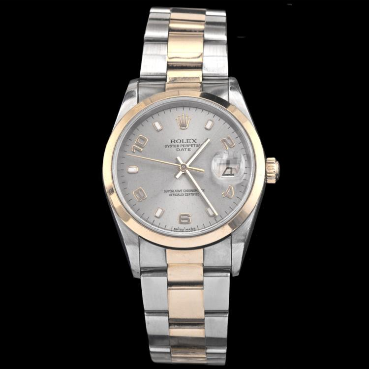 Men's Rolex Two-Tone 18K Oyster Perpetual Datejust Watch