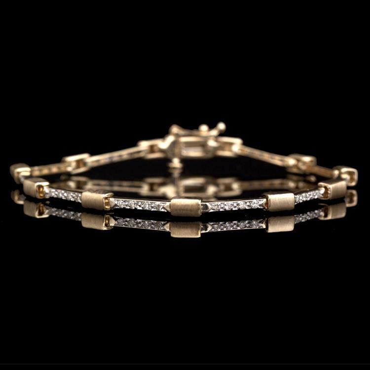 14K GOLD BRACELET W/ 0.75ct. FANCY DIAMOND