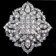 18K GOLD LADY'S FASHION RING W/ 2.66ct. WHITE DIA