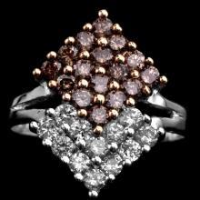 14K GOLD RING W/ 1.20ct. FANCY DIAMOND