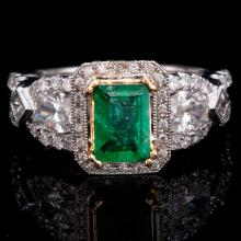 18K GOLD LADY'S RING W/ 1.63ct. TOTAL DIA WEIGHT