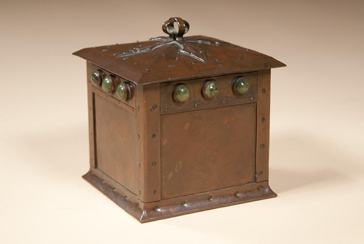 Patinated Copper Box by Annie Stubbs