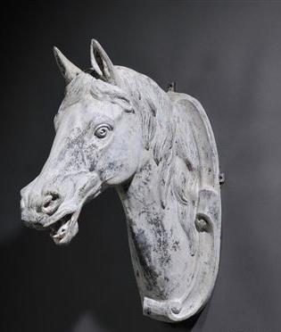 Cast Zinc Horse Head by J. W. Fiske & Co.