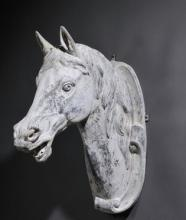 Cast Zinc Horse Head by J. W. Fiske & Co.