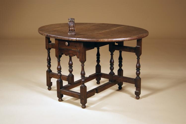 Miniature late 17th-century Style Walnut Gate-leg Table