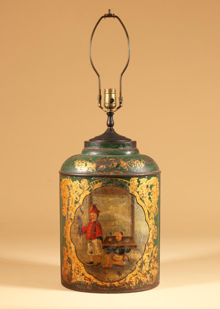 An early 19th century English Green Tea Canister1250