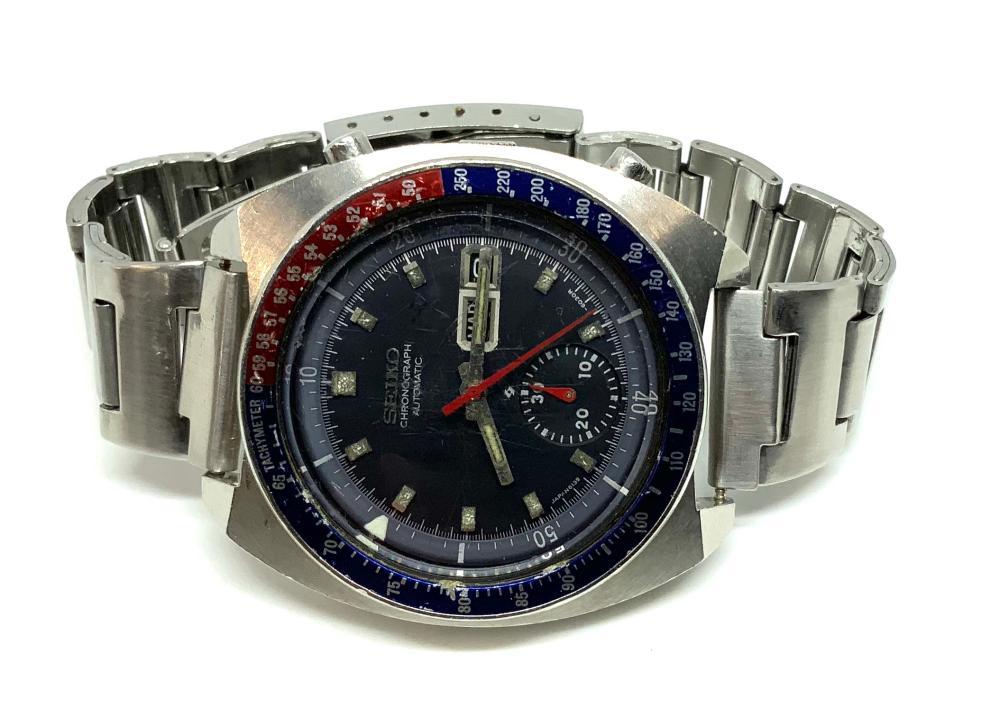 Seiko Pepsi Automatic Chronograph Men's Watch.