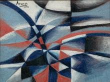 Michael Gottlieb Aram Abstract Pastel Artwork.