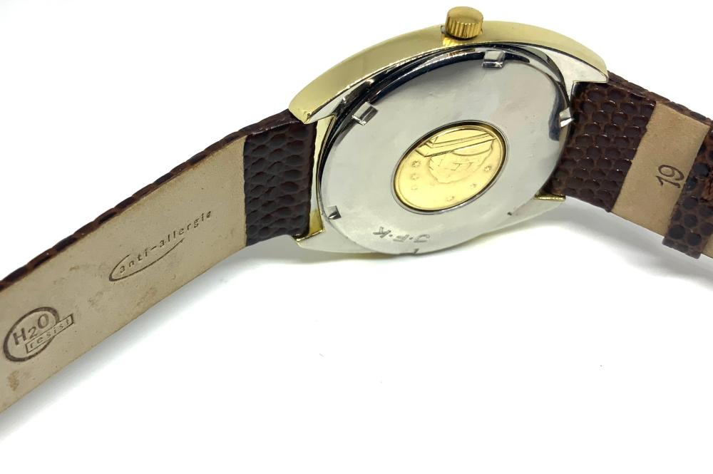 18K Cap & Stainless Omega Constellation Watch.