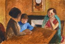 SAVIN, MAURICE LOUIS: Scène de famille.