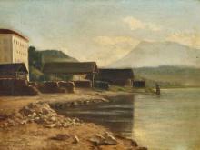 ROBINET, PAUL GUSTAVE I: Uferpartie bei Luzern.