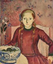 BRESSLER, ÉMILE: Portrait d'une jeune fille.