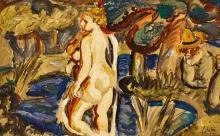 LATAPIE, LOUIS ROBERT ARTHUR: Jeune fille dans un paysage.