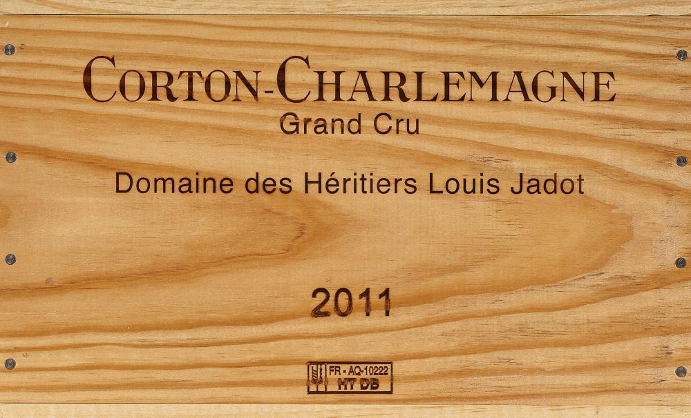 DOMAINE DES HÉRITIERS LOUIS JADOT: Corton-Charlemagne, Grand Cru (blanc), 2011.