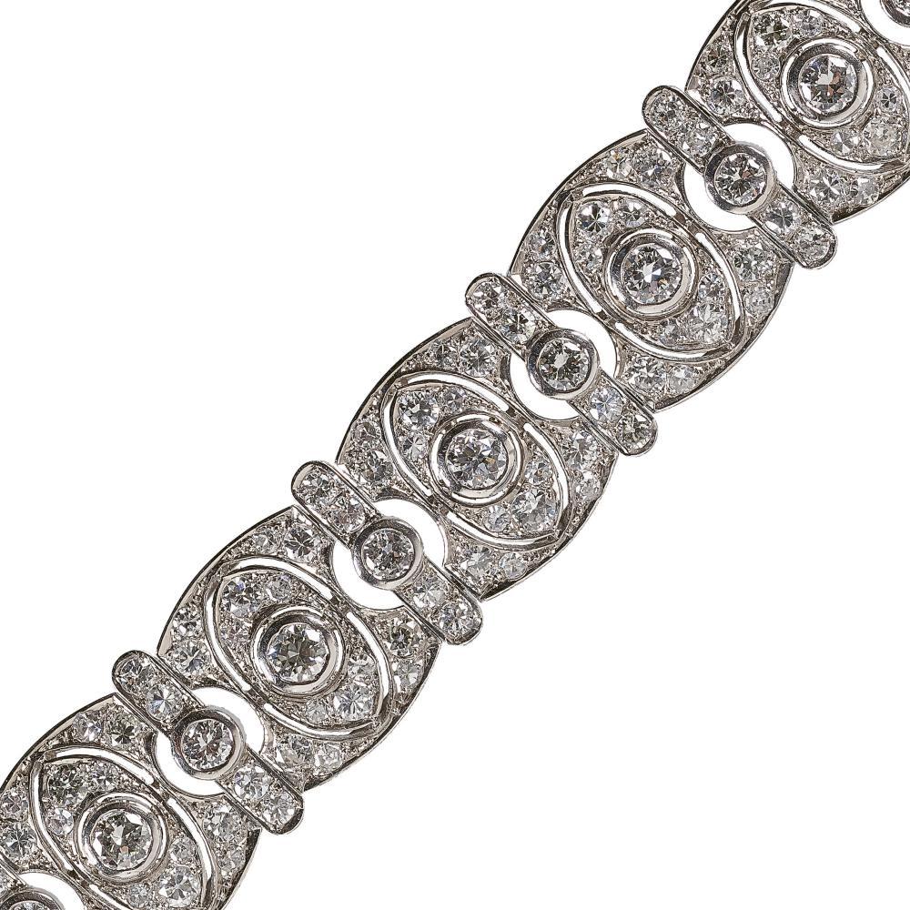 DIAMANT-BRACELET: Frankreich, Anfang 20. Jh. / Diamond bracelet