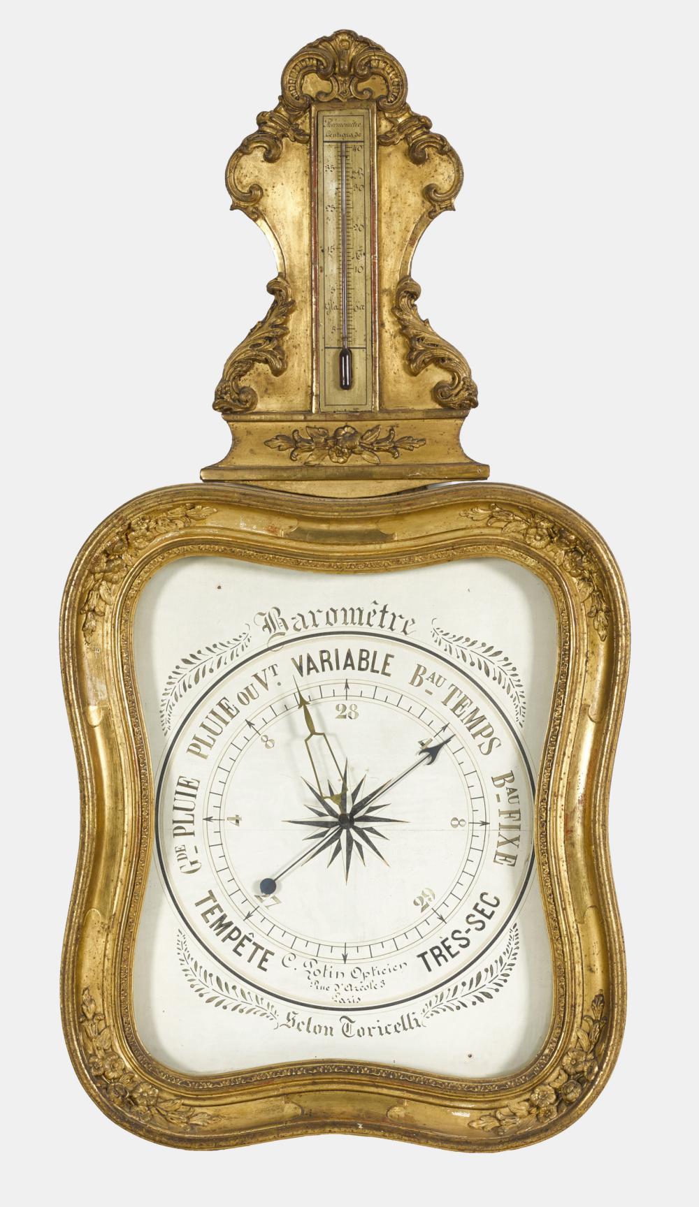 BAROMETER: Louis XV, Frankreich, Ende 18. Jh. (Selon Torincelli).