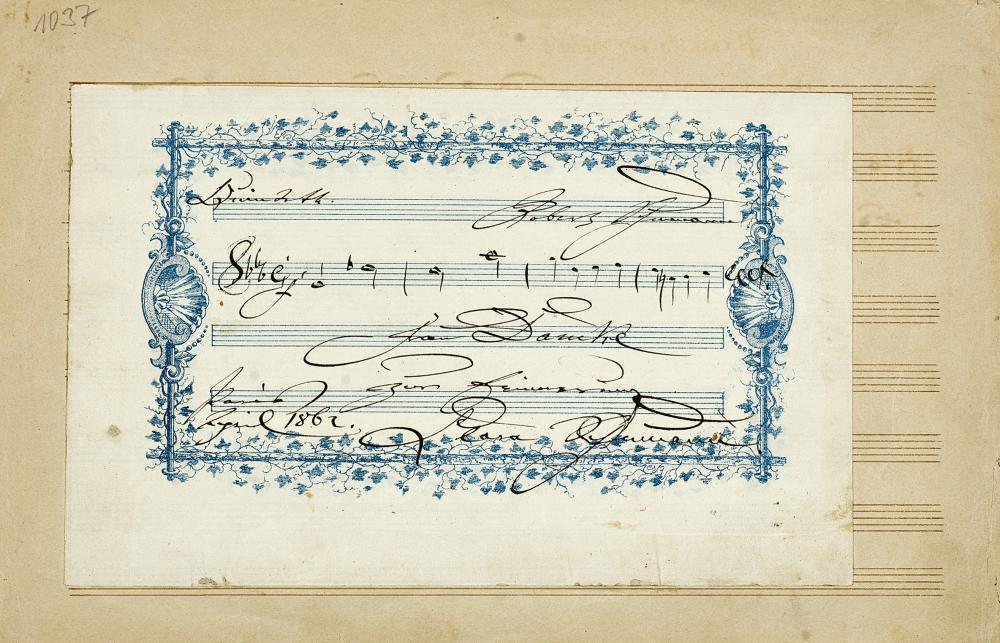 AUTOGRAF: Clara Schumann (1819-1896).