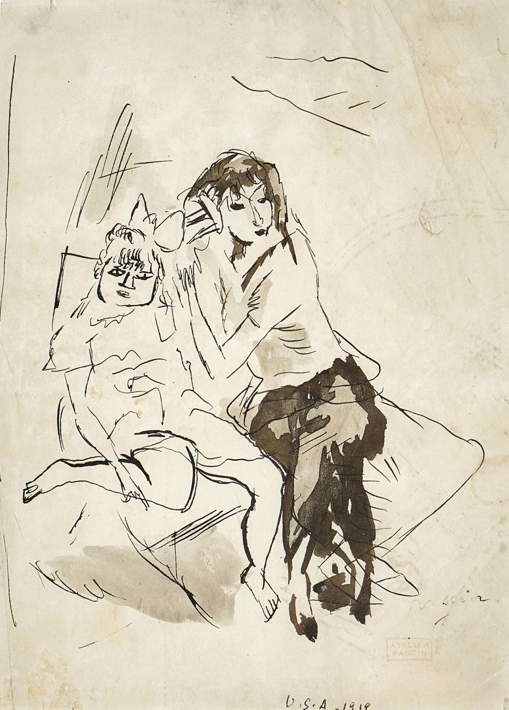 PASCIN, JULES: Deux femmes.