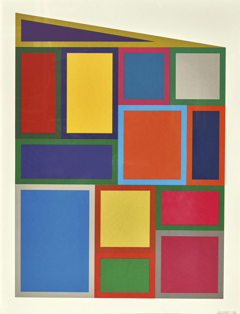 LEWITT, SOL: Color Rectangles.