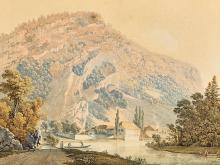 JUILLERAT, JACQUES HENRI: Alpine Flusslandschaft.