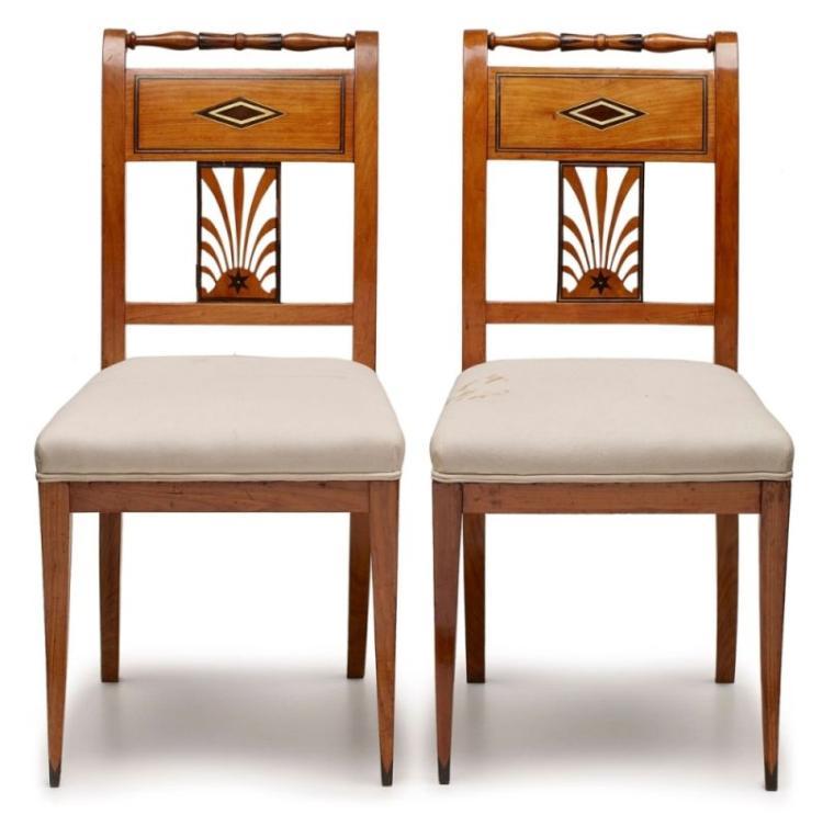 Paar Klassizismus Stühle Im Stil Jean