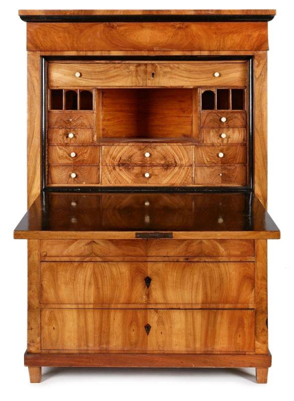 biedermeier sekret r s ddt um 1820 25. Black Bedroom Furniture Sets. Home Design Ideas