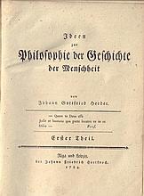 Johannn Gottfried Herder. Ideen zur