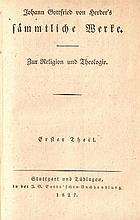 Johann Gottfried von Herder. Sämmtliche