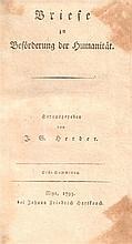 Johann Gottfried Herder. Briefe zur