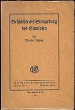Theodor Lessing - 2 Erstausgaben