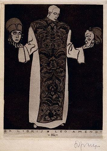 Sepp Frank (1889-1969): Konvolut 2 Blatt Radierungen
