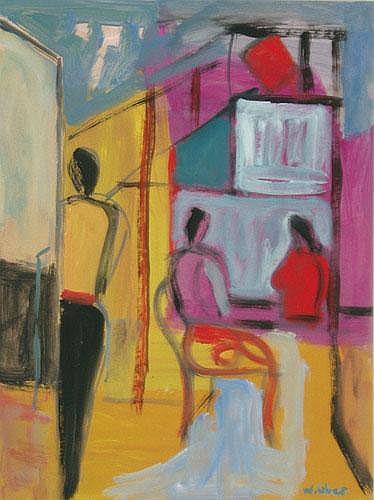 Wolfgang Leber (*1936): Cafészene
