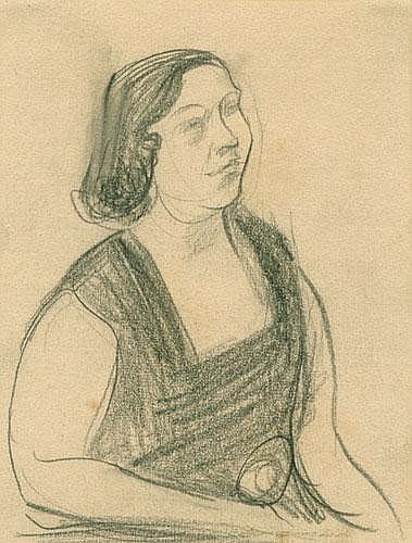 Karl Schwesig (1898-1955): Bildnis einer Dame