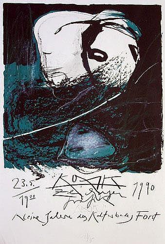 Gregor Torsten Kozik (Gregor Torsten Schade) (*1948): Ausstellungsplakat
