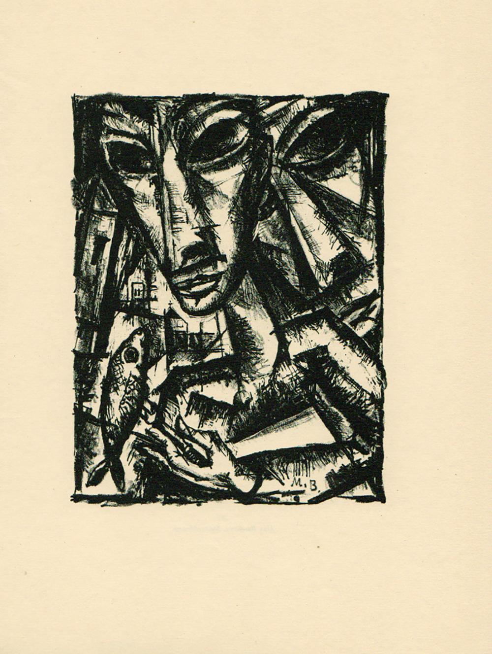 Max Burchartz (1887–1961): Paar mit Fisch (1919)