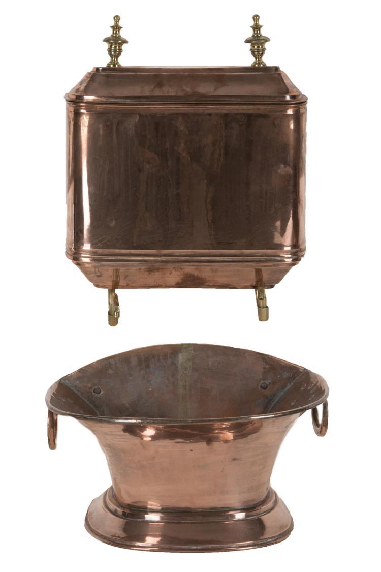 Fontaine en cuivre avec son bassin - Bassin en cuivre versailles ...