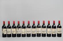 12 bouteilles Château Durfort. Grand Cru classé Margaux, 1953.