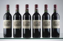6 bouteilles Château Lafite Rothschild 1er Grand cru classé - Pauillac 2001.