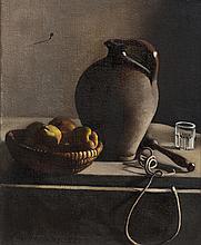 Pierre Jouffroy (1912-2000), Nature morte à la cruche et aux coings.
