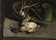 "Pierre Jouffroy (1912-2000), ""Nature morte au colvert""."