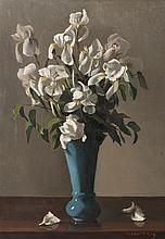 Pierre Jouffroy (1912-2000), Les iris blanches.