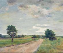 """Emile Bressler (1886-1966) """"Paysage""""."""