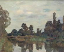 """Emile Bressler (1886-1966), """"Paysage""""."""