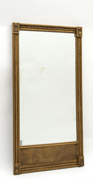 Miroir trumeau rectangulaire de style empire 4 mascarons d for Miroir trumeau