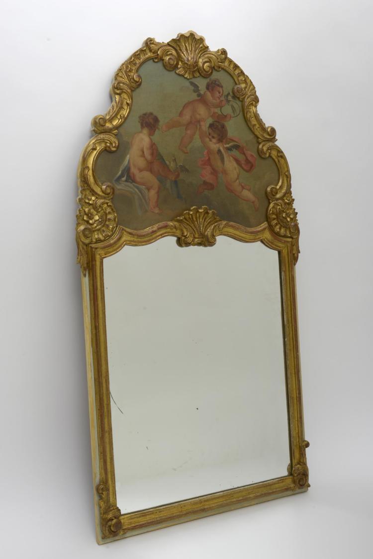 Miroir trumeau de style louis xv for Miroir trumeau