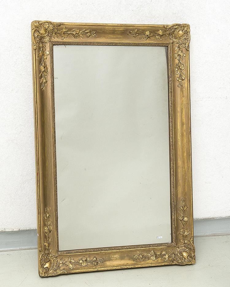 Miroir napol on iii cadre en stuc dor glace au mercure for Miroir napoleon